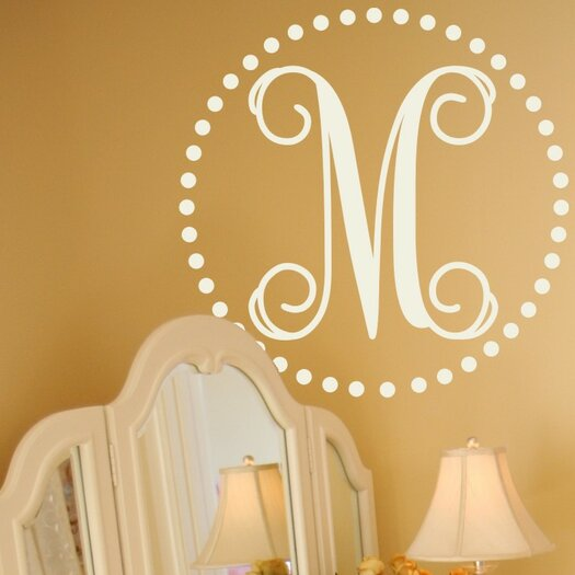 Personalized Fancy Dot Monogram Wall Decal