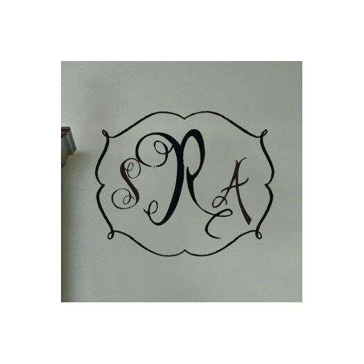 Alphabet Garden Designs Personalized Darling Monogram Wall Decal