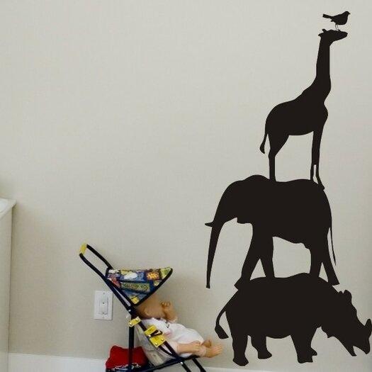 Alphabet Garden Designs Animals Chalkboard Wall Decal