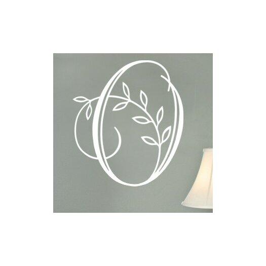 Alphabet Garden Designs Personalized Vine Monogram Wall Decal
