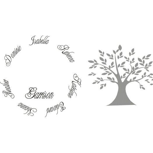 Alphabet garden designs personalized family tree wall for Alphabet garden designs