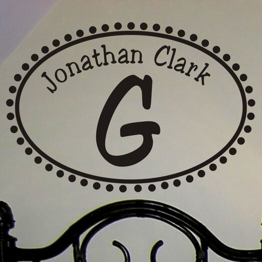 Alphabet Garden Designs Personalized Not So Whimsy Monogram Wall Decal