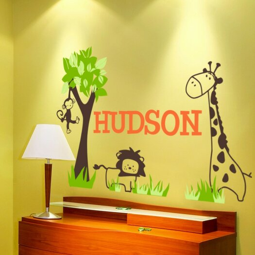 Alphabet Garden Designs Personalized It's a Jungle Out There Wall Decal
