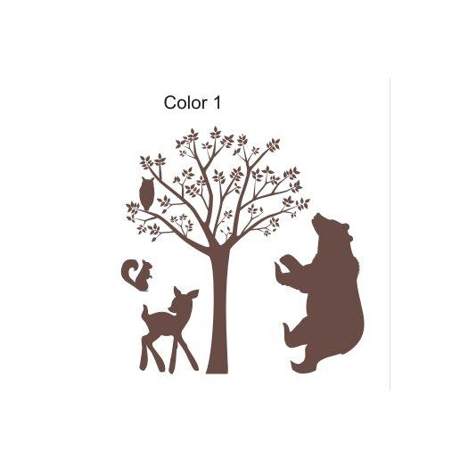 Alphabet garden designs forest critters wall decal allmodern for Alphabet garden designs