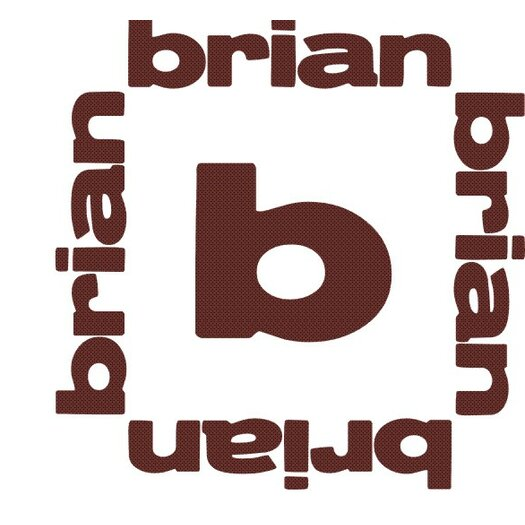 Alphabet Garden Designs Personalized Brian Monogram Wall Decal