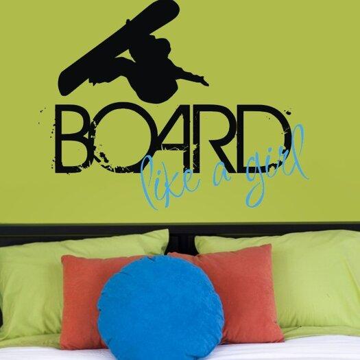Board Like a Girl Wall Decal