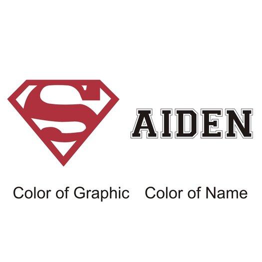 Alphabet Garden Designs Personalized Superman Wall Decal