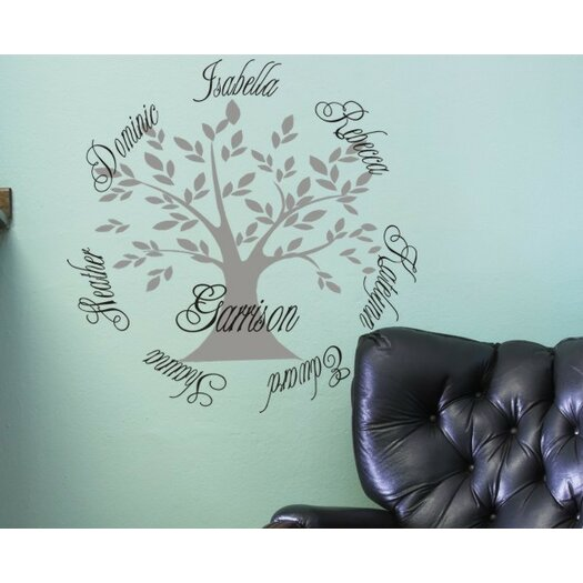 Alphabet Garden Designs Personalized Family Tree Wall Decal