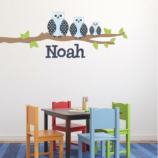 Owl Family Boy Wall Decal