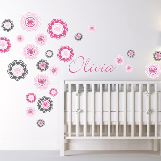 Blushing Blooms Wall Decal