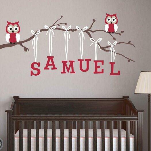 Boy Owl Branch Wall Decal