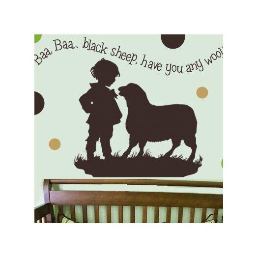Alphabet Garden Designs Baa Baa Black Sheep - Boy Wall Decal