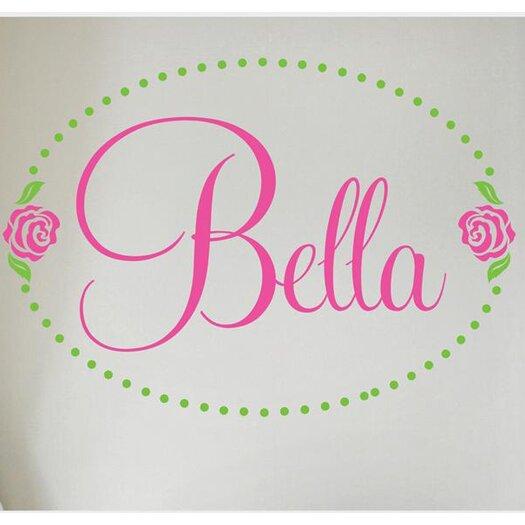 Alphabet Garden Designs Bella Rose Personalized Wall Decal