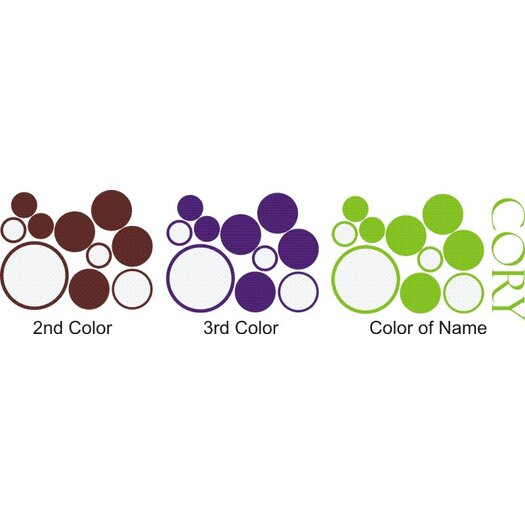 Alphabet Garden Designs Personalized Boy's Dots and Circles Wall Decal