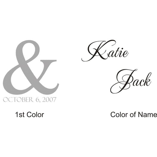 Alphabet Garden Designs Personalized Katie and Jack Monogram Wall Decal