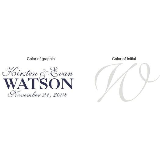 Alphabet Garden Designs Personalized Watson Monogram Wall Decal