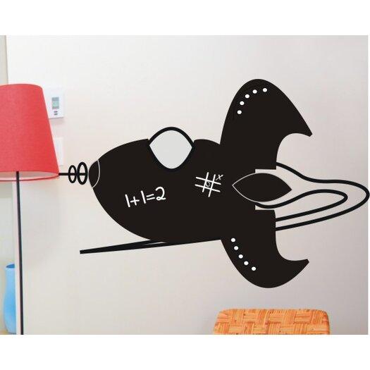 Alphabet Garden Designs Rocket Chalkboard Wall Decal