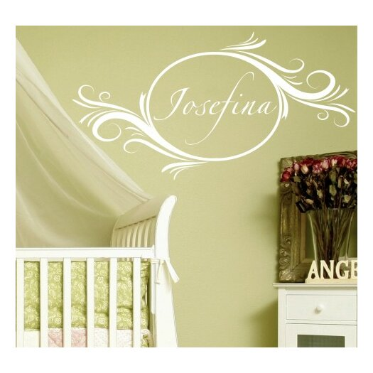 Alphabet Garden Designs Personalized Delightful Elements Wall Decal