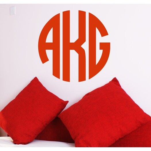 Alphabet Garden Designs Personalized Circle Monogram Wall Decal