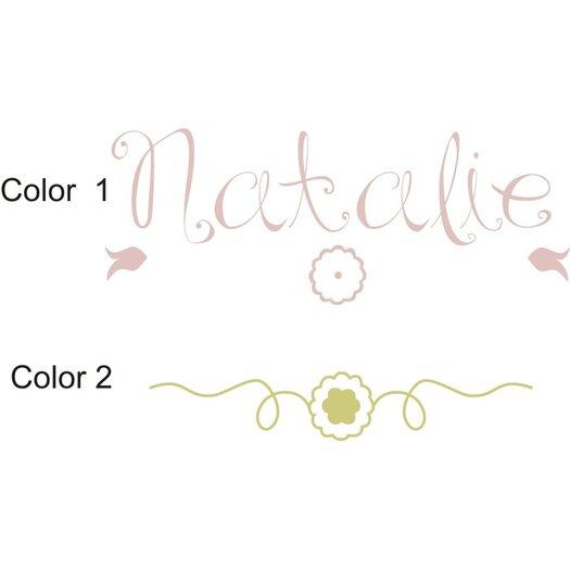 Alphabet Garden Designs Personalized Natalie's Wall Decal