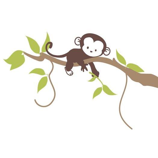 Alphabet Garden Designs Monkey Branch Wall Decal