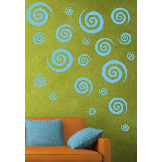 Alphabet Garden Designs Swirly Swirls Set Wall Decal