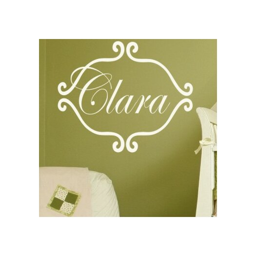 Alphabet Garden Designs Personalized Princess Clara Wall Decal