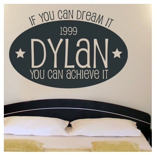 Personalized Dream Big Wall Decal