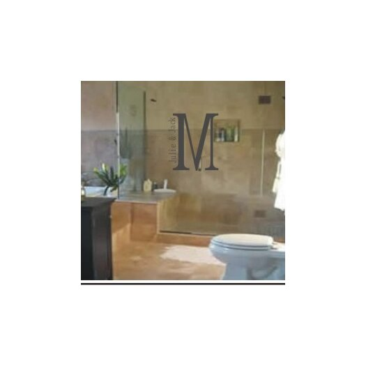 Alphabet Garden Designs Personalized Julie and Jack Monogram Wall Decal
