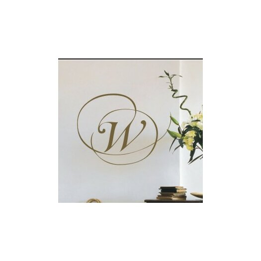 Alphabet Garden Designs Personalized Script Monogram Wall