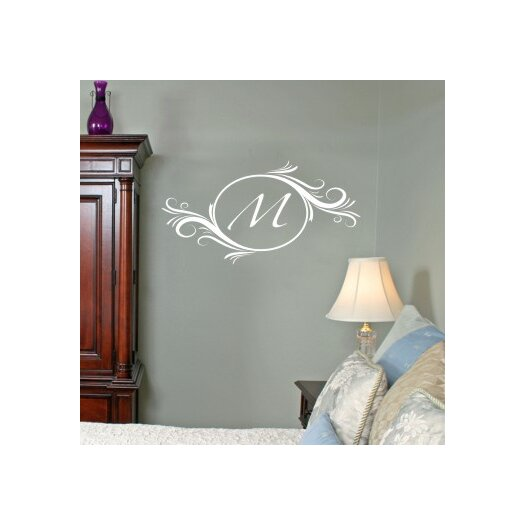 Alphabet Garden Designs Personalized Delightful Elements Initial Wall Decal
