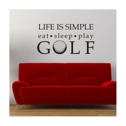 Alphabet Garden Designs Life is Simple-Golf Wall Decal