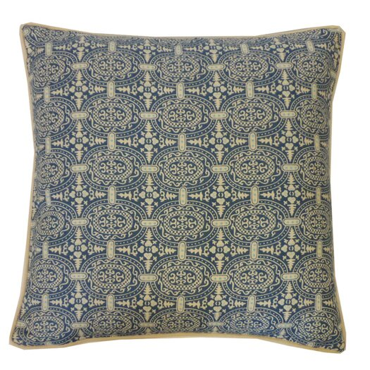 Jiti Stamps Cotton Throw Pillow