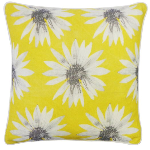 Jiti Sunflower Cotton Throw Pillow