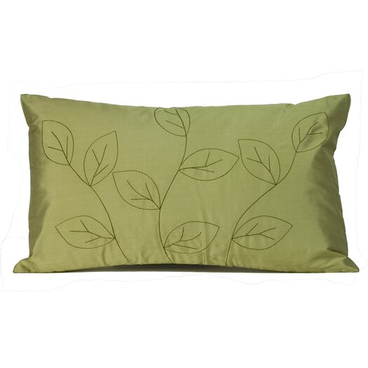 Jiti Leaves Silk Lumbar Pillow
