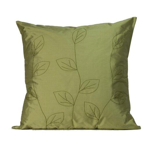Jiti Leaves Silk Throw Pillow