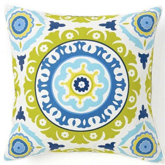 Jiti Suzani Henna Silk Throw Pillow