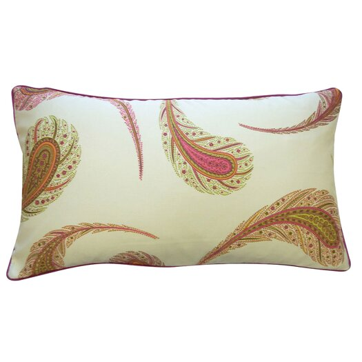 Jiti Peacock Cotton Lumbar Pillow