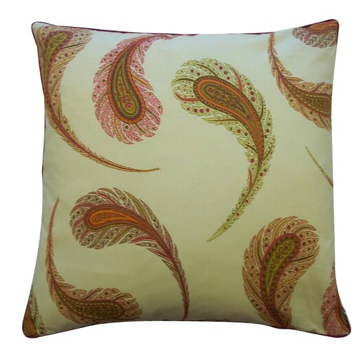 Jiti Peacock Throw Pillow