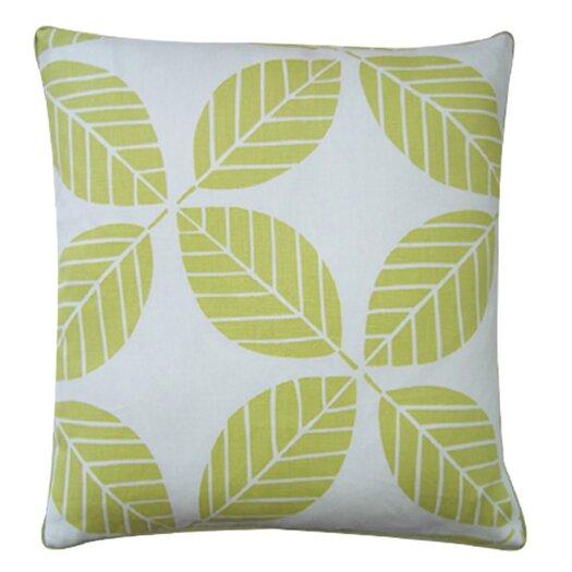 Jiti Tiki Leaves Linen Throw Pillow