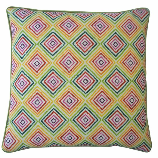 Jiti Diamond Cotton Throw Pillow