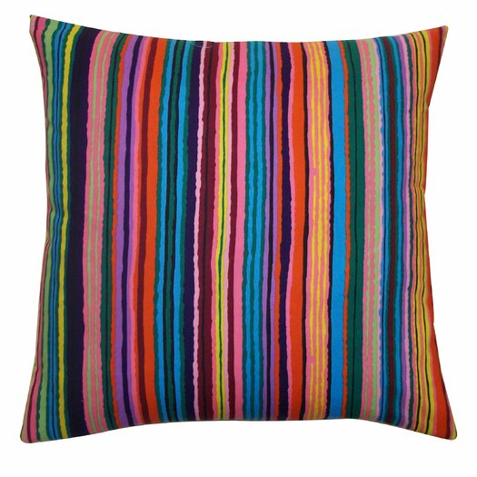 Jiti Strokes Cotton Throw Pillow