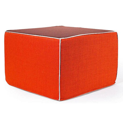 Jiti Rebel Window Ottoman in Orange and Chocolate