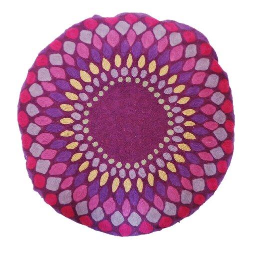 Jiti Iris Embroidered Cotton Throw Pillow