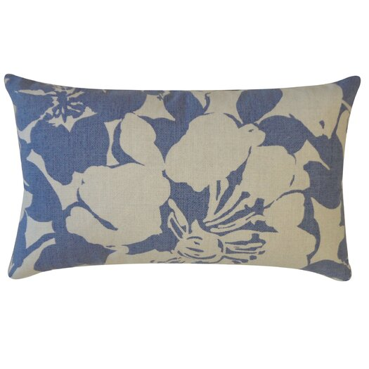 Jiti Peony Cotton Lumbar Pillow