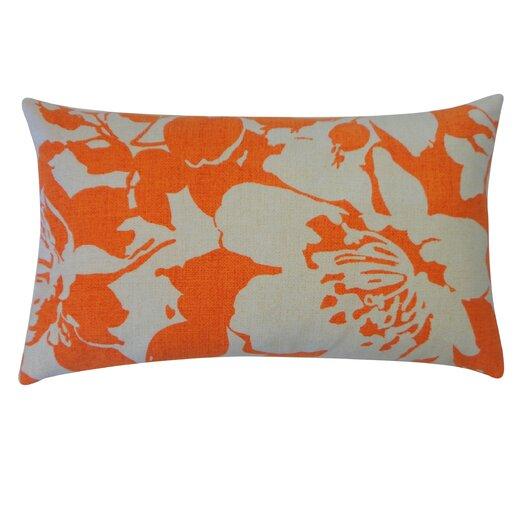 Jiti Peony Cotton Lumbar Pillow