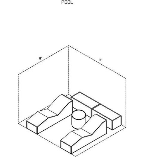 La-Fete Pool 5 Piece Lounge Seating Group