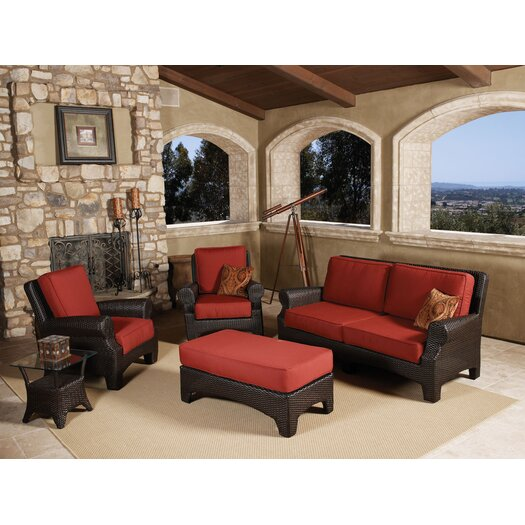 Sunset West Santa Barbara 4 Piece Deep Seating Group with cushions