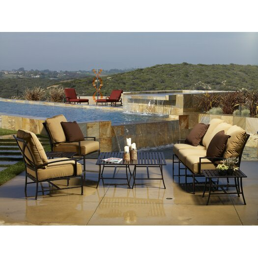 Sunset West La Jolla 6 Piece Deep Seating Group with Cushions
