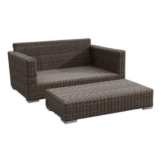 Sunset West Coronado Deep Seating Double Chaise with Ottoman